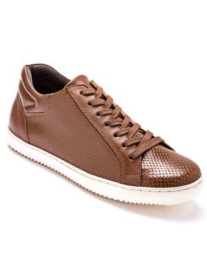 Baskets cuir largeur confort