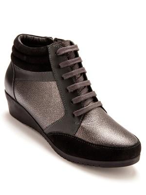 Sneakers cuir zippés, à aérosemelle®