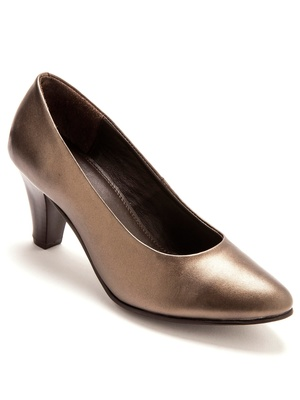 Escarpins cuir largeur confort