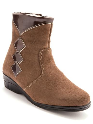 Boots cuir, fourrées laine majoritaine