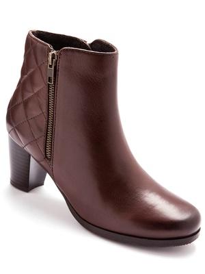 Boots cuir fermées par glissière