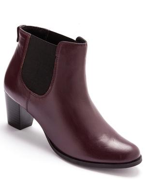 Boots cuir élastiquées largeur confort
