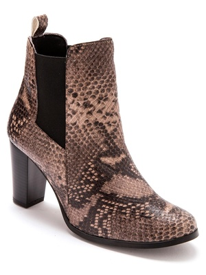 Boots avec élastiques, talon 7 cm