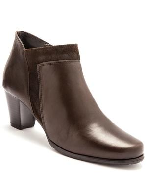 Boots bi matière cuir