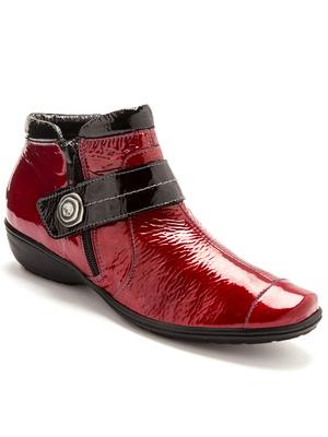 Boots cuir verni