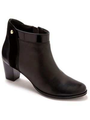 Boots cuir largeur confort