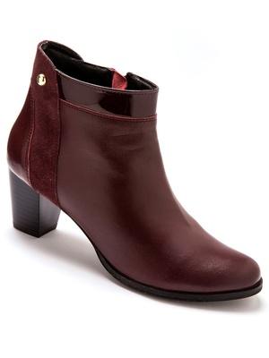 Boots cuir, largeur spécial pied fort