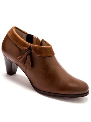 Boots à revers en cuir