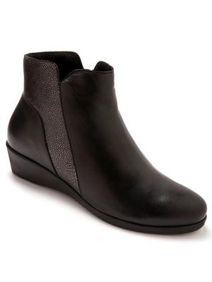 Boots cuir bicolore