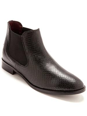 Boots cuir façon écailles