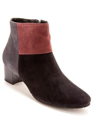 Boots cuir velours, à aérosemelle®