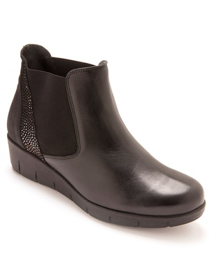 Boots en cuir, élastiques côtés