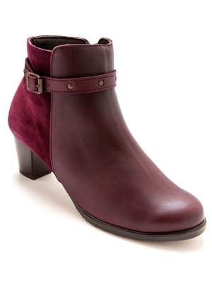 Boots cuir aérosemelle®, grande largeur