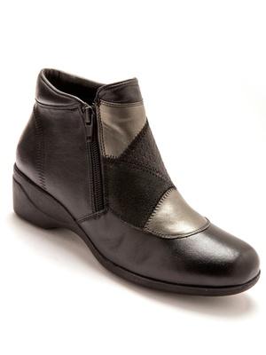 Boots cuir à double glissière