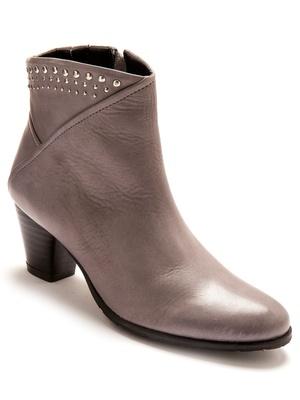 Boots cuir zippées