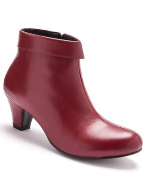 Boots cuir avec revers