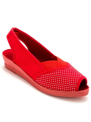 Sandales élastiquées, imprimées pois