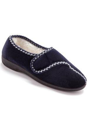 a76eaa43c3abc SOLDES Pantoufles femme, chaussons femmes, pieds larges, mules éponge