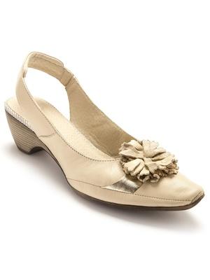 Sandales bicolores cuir, ultra souples