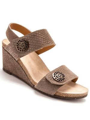 Sandales en cuir à double patte autoagri