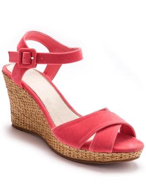 Sandales compensées à talon haut