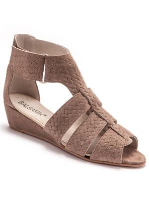 Sandales cuir, patte autoagrippante