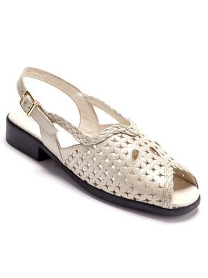 Sandales à dessus ajouré