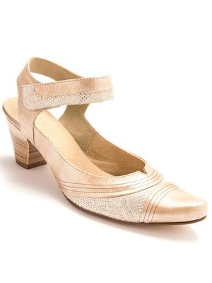 Sandales cuir à patte auto-agrippante