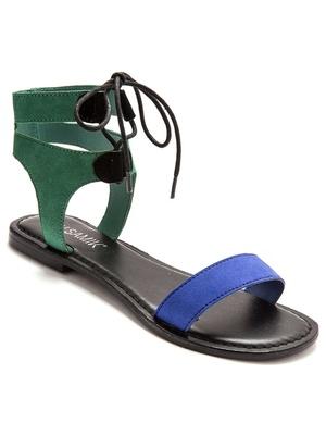 Sandales cuir à lacets