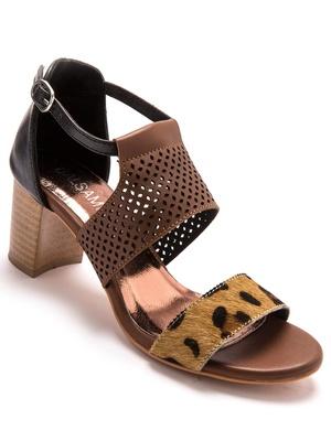 Sandales cuir à talon