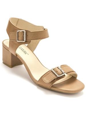 Sandales cuir 2 brides réglables