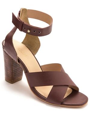 Sandales cuir naturel, aérosemelle®