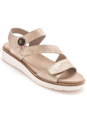 Sandales en cuir, à ouverture totale
