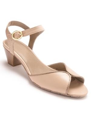 Sandales en cuir, largeur confort