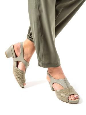 Sandales cuir fantaisie, aérosemelle®
