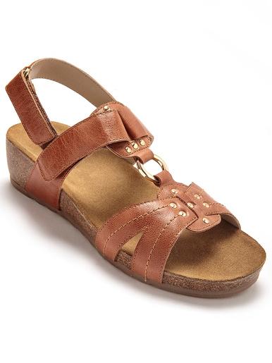 Sandales talon liège à galbe anatomique