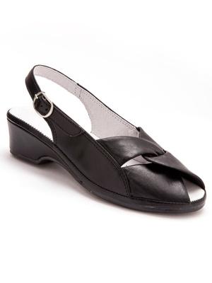 Sandales en cuir, au confort maxi