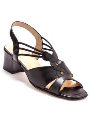 Sandales extra larges, en cuir