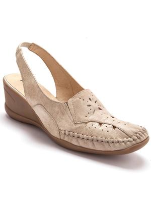 Sandales ajourées, talon 5cm