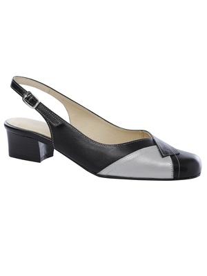 Sandales bicolores, talon 3cm
