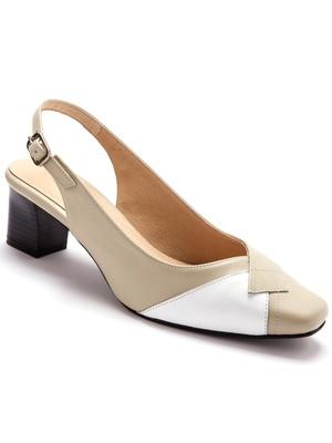 Sandales bicolores, talon 4,5cm