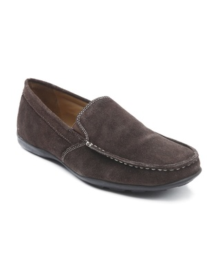 Chaussures loafers en cuir velours