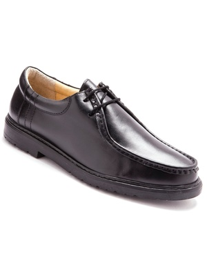 Derbies à lacets en cuir, grande largeur