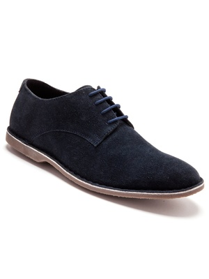 Derbies cuir velours