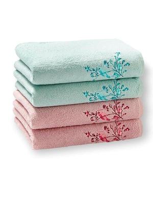Lot de 4 serviettes-éponge, pur coton
