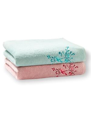 Lot de 2 draps de bain pur coton