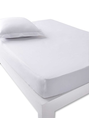 Drap-housse en percale, bonnets 25cm