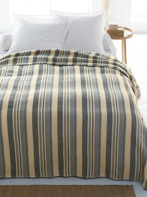 Couverture/couvre-lit fantaisie en laine