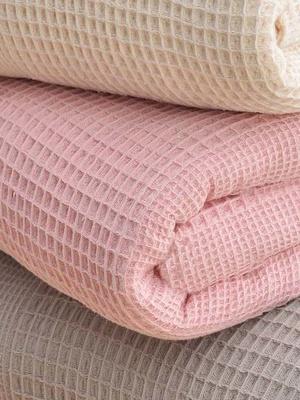 Couverture en coton nid-d'abeilles