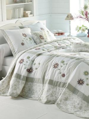 Couvre-lit patchwork pur coton